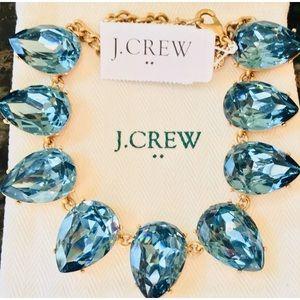 NWT J.Crew Crystal teardrop statement Necklace